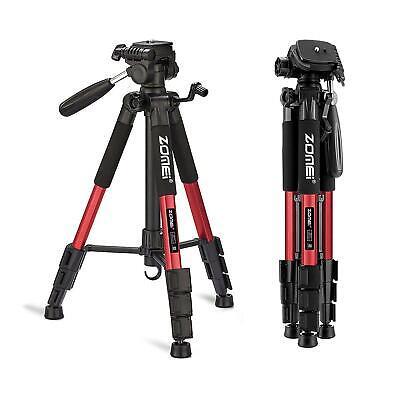 ZOMEI Professional Aluminum Travel Tripod+Pan Head Portable for Camera Video Red