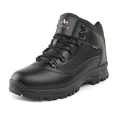 NORTIV 8 Mens Waterproof Winter Snow Boots Mid Outdoor Hikin