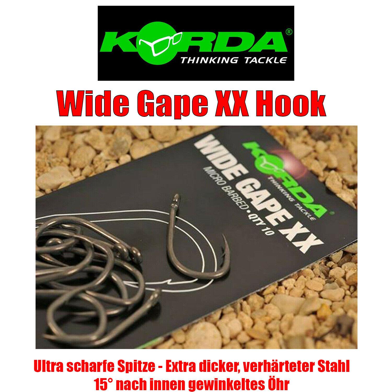 Korda Wide Gape XX Hook - Karpfenhaken Haken mehrere Größen NEU
