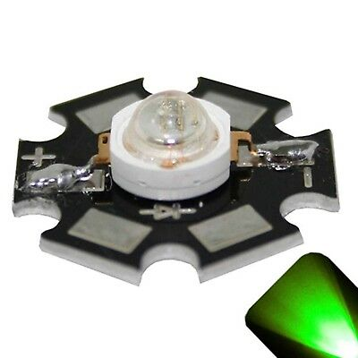 5 X Led 1 Watt Pure Green Star Ultra Bright Wide Angle High Power Leds 1w W