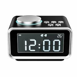 MoKo Digital Alarm Clock,Multifunctional FM Radio Dual Alarm Table Bedside Clock