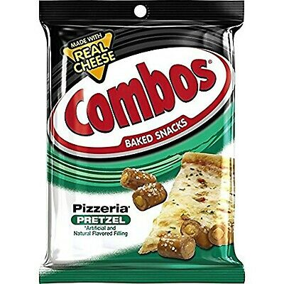 COMBOS Pizzeria Pretzel Baked Snacks 6.3-Ounce Bag (Pack of 3)