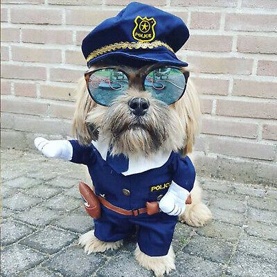 Disfraz De Policia Para Halloween (Ropa Para Perros Mascotas Traje de Policia Disfraz de Perrito Mascota)