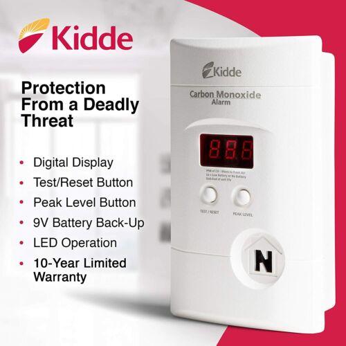 Kidde 900007601 Nighthawk Carbon Monoxide Alarm with Digital Display - KN-COPP-3