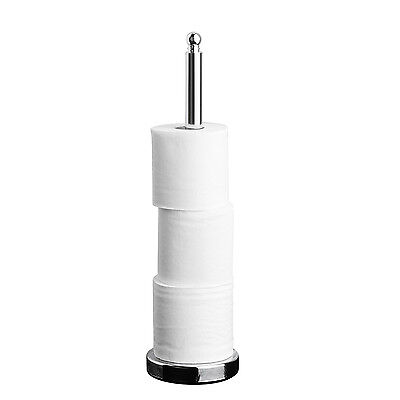 Home Treats Toilet Roll Stand Chrome. Holds 3 Toilet Rolls.