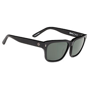 b602a790b0 Spy Optic Tele Shiny Black Sunglasses Happy Gray Green Lens 673361038864
