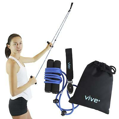 Shoulder Pulley Over-door Rehab Exercise Physical Therapy Stretching Rope Handle