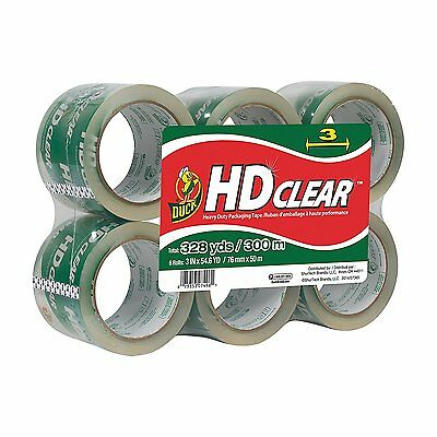 Duck Brand Hd Clear High Performance Packaging Tape Refill 3 X 54.6 Yd 6-pack