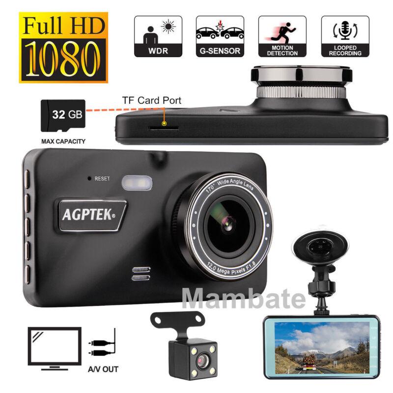 "4"" Vehicle 1080P Car Dashboard DVR Camera Video Recorder Dash Cam G-Sensor"