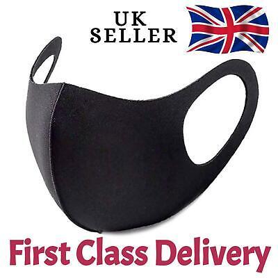 Breathable Mask Washable Face Mouth Masks washable Protection Black [UK SELLER ]