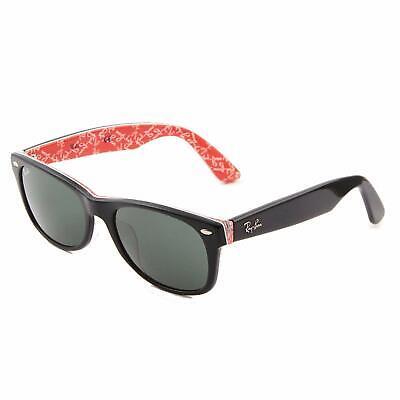 Ray-ban Wayfarer Sonnenbrillen RB2168F 1016/71 52mm Schwarz auf Rot Neu