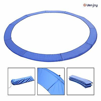 12FT Trampoline Safety Pad Spring Round Frame Pad Cover Replacement Blue
