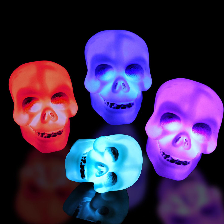 Halloween Pumpkin Skeleton LED Lamp