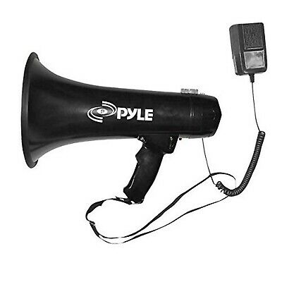 Pyle Megaphone Speaker Pa Bullhorn - Built-in Siren 40 Watts Adjustable Vol C...
