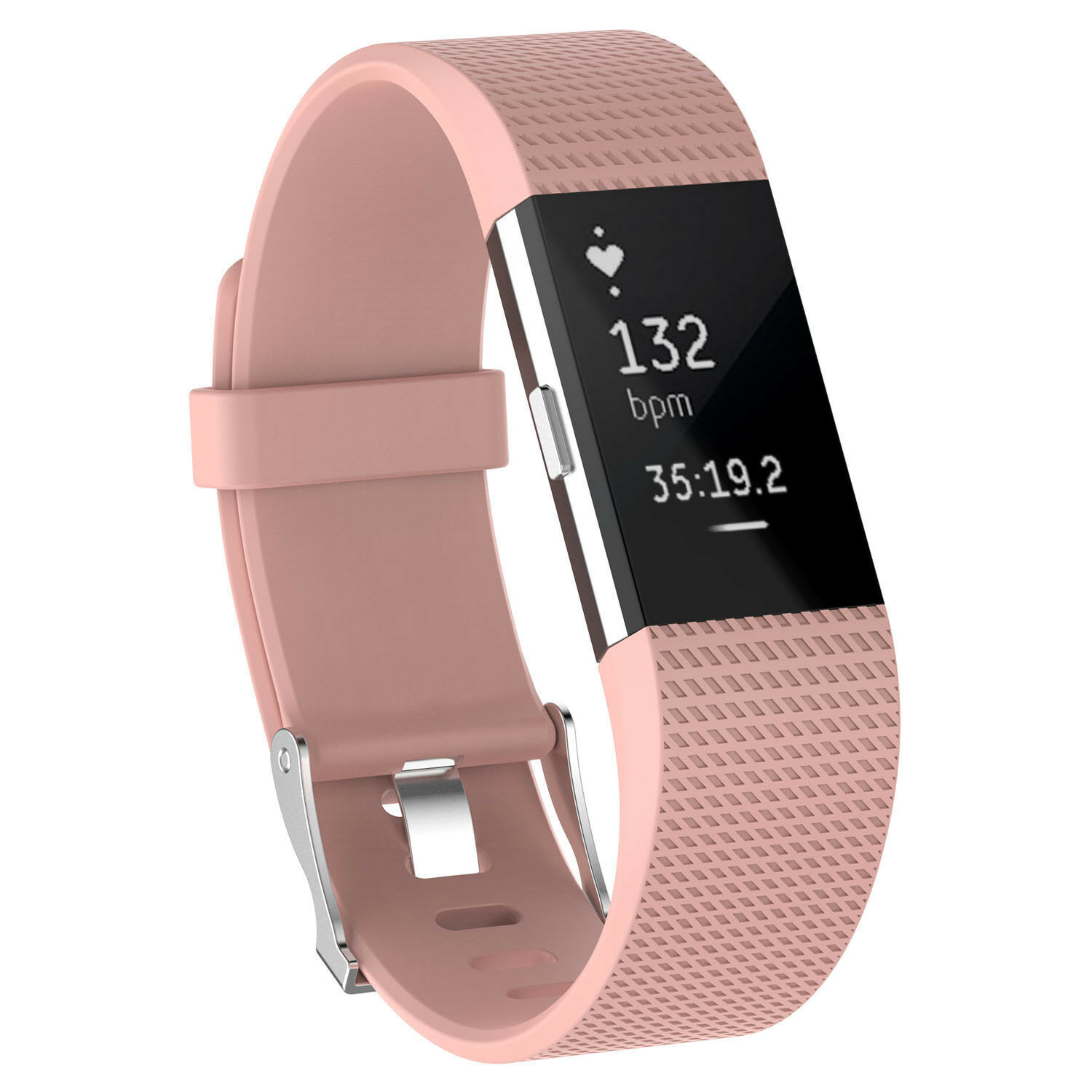 For Fitbit Charge 2 /  2 HR Replacement Silicone Bracelet Watch Band Peach