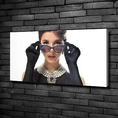 Leinwandbild Kunst-Druck 100x50 Bilder Menschen Frau mit Brille