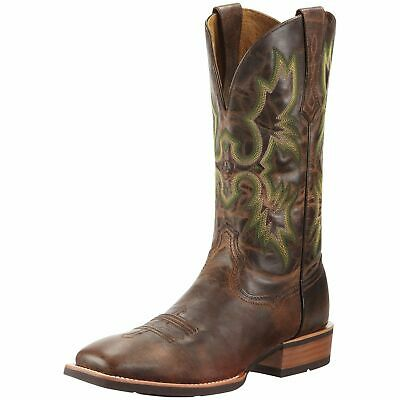 Ariat Mens Tombstone Square Toe Cowboy Boot Weathered Brown 10010285