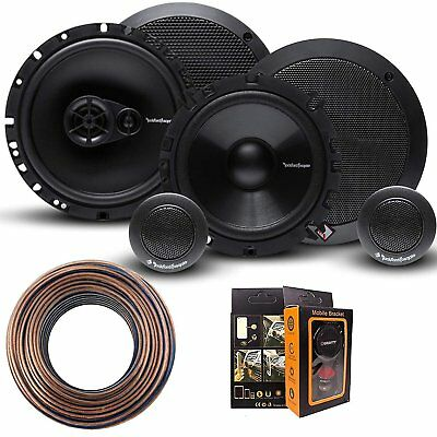 "Rockford Fosgate R165X3 6.5"" Speaker + R165-S 6.5""  Speaker + 18GA 100FT Wire"