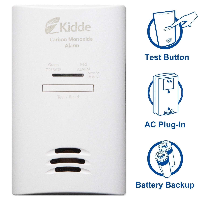 Kidde Plug In Carbon Monoxide Alarm w/ Battery Back-Up KN-C