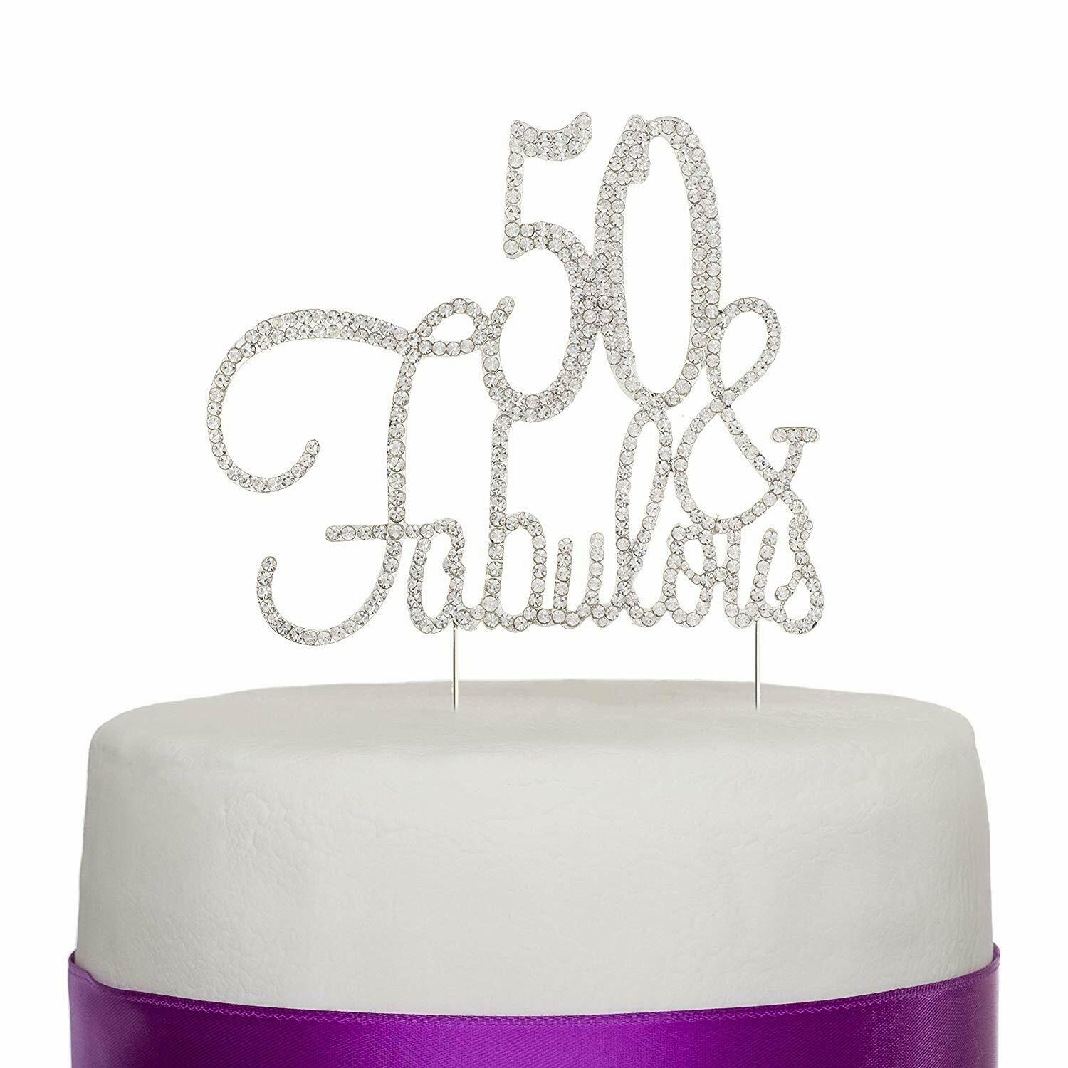 Ladies 50th Birthday 50th Birthday Cake Topper LT1423 Personalized Topper