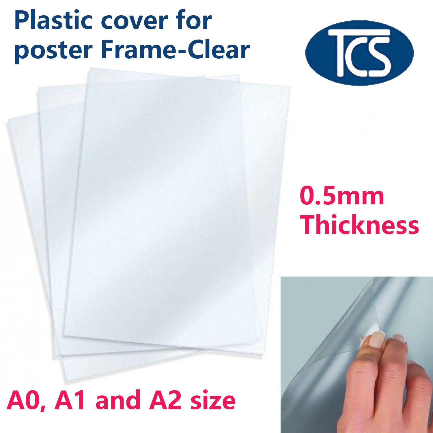 5 / 10 pcs Replacement A0 A1 A2 Size Anti-glare Plastic Poster Cover ...