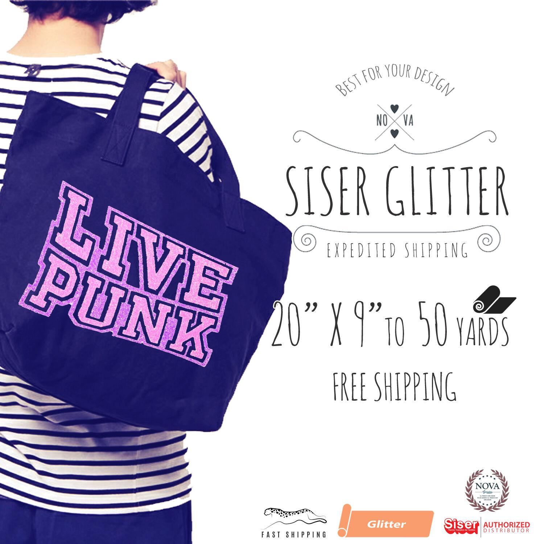 "Siser Glitter IRON-ON Heat Transfer Vinyl 20"" x 9"", 12"", 1,3"