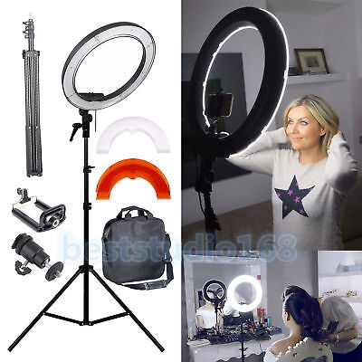 "Studio LED 35W 12"" Ring Light +2M Reverse Stand Photo Video Selfie Makeup Beauty"