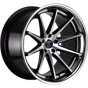 22x9 Machined Black Wheel Rohana RC10 5x115 13