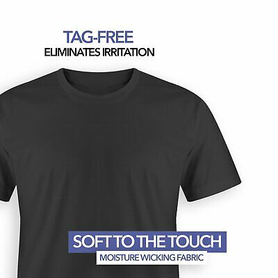 4 Pack T Shirts for Men, 100% Cotton Crew Neck Tag Free Shir