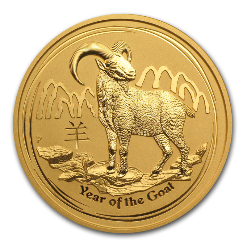 2015 Australia 2 Oz Gold Lunar Goat Bu - Sku #84399