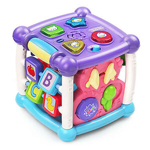 Developmental Learning Baby Activity Cube Music Toy Animals Sound Kids Play Toys