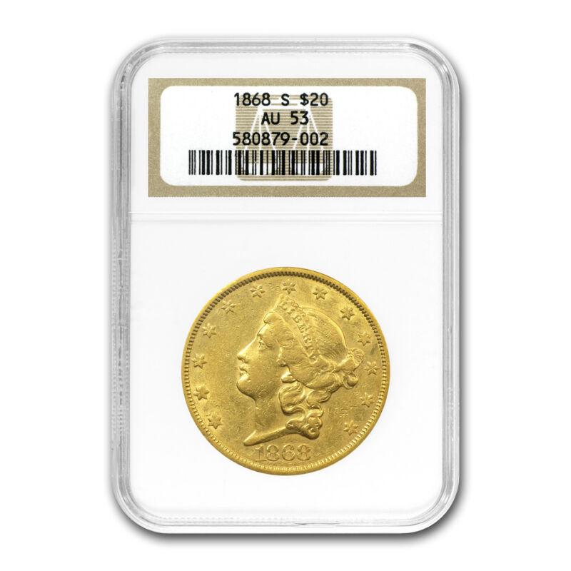 1868-s $20 Liberty Gold Double Eagle Au-53 Ngc - Sku#22675