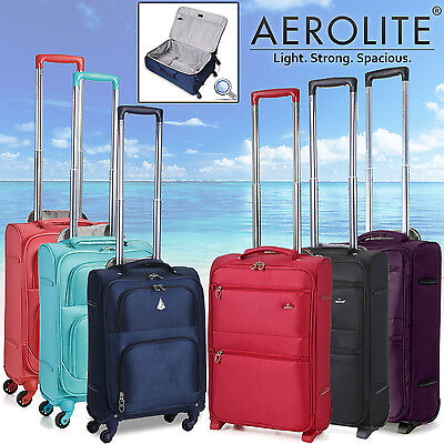 Aerolite Light Weight lightest Suitcase Trolley Cabin Cases Bag Travel Luggage