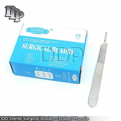 100 Scalpel Blades 15 Scalpel Handle 3 Dental Ent Surgical