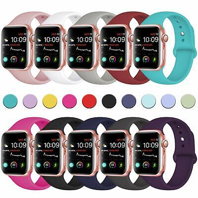 Replacement Silicone Bracelet Sport Band Strap For Apple Watch iWatch 38mm-44mm