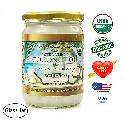 Organic Coconut Oil Extra Virgin Unrefined Cold Pressed 16.91 fl oz (500 (Organic Extra Virgin Coconut Oil Sri Lanka)