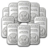 1 oz APMEX Silver Bar - Lot of 10 - SKU #81774