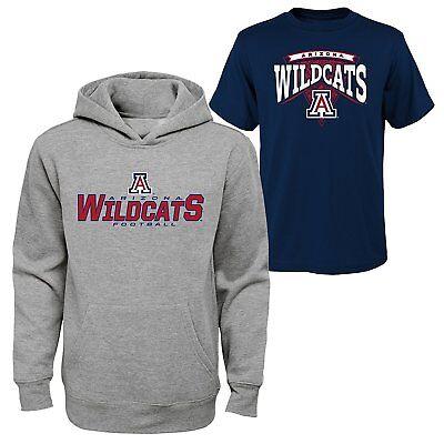 New Youth Boys NCAA Arizona Wildcats Hoodie & T-shirt 2-pack Large