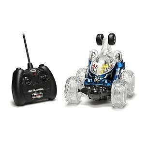 COBRA-RC-TOYS-Blue-LUNA-RC-STUNT-CAR-W-360-Degrees-Spins-amp-Flashing-LED-Lights