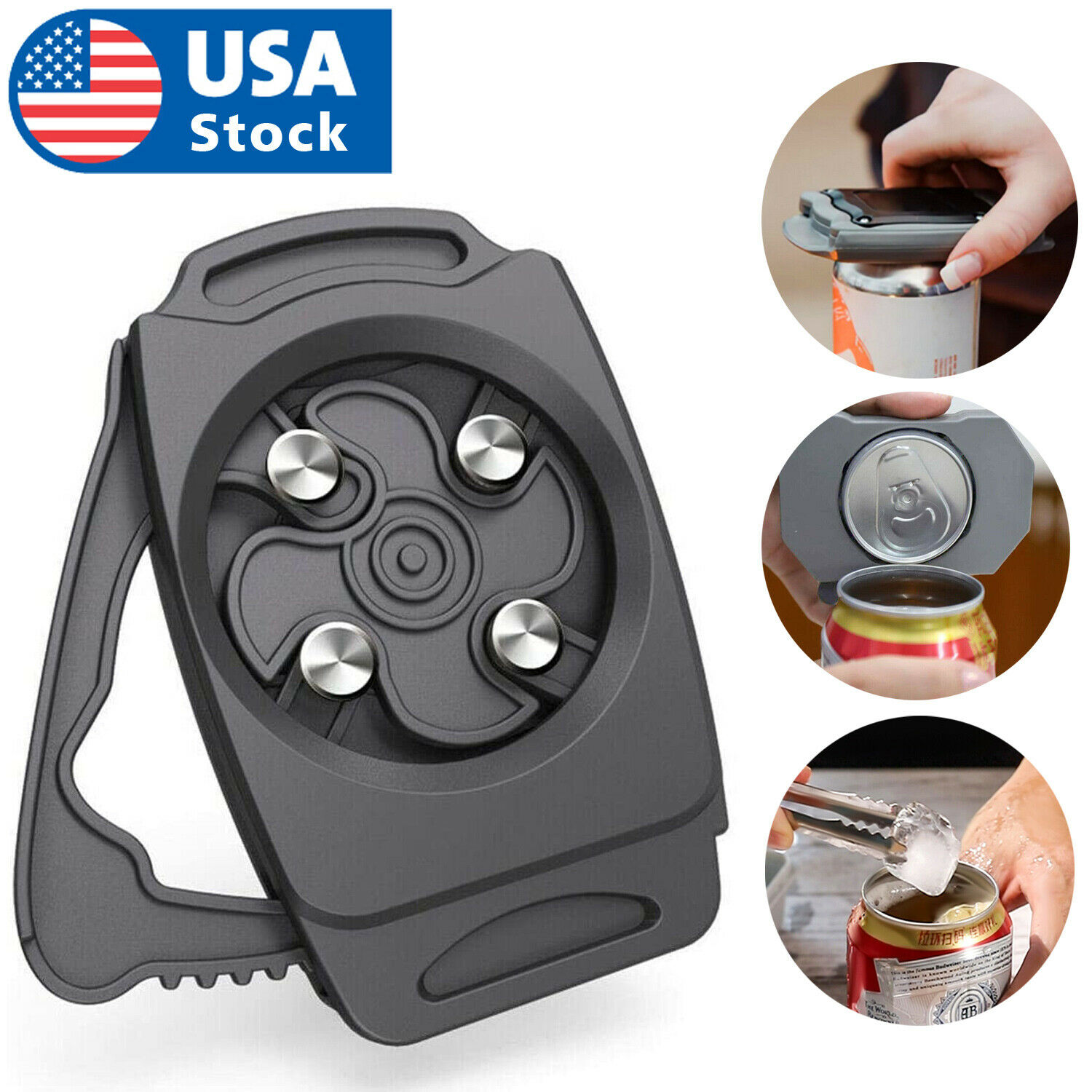 USA Topless Can Opener Bar Tool Safety Manual Opener Household Kitchen Tool Can Openers (Manual)