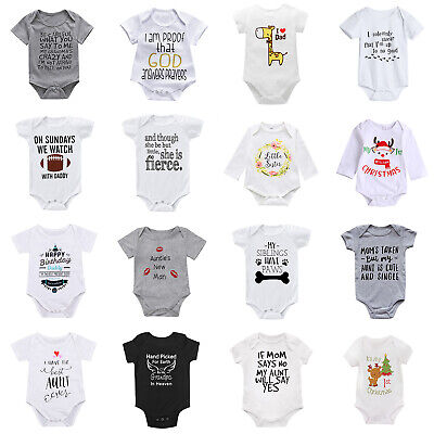 Newborn Infant Baby Boy Girl Cotton Romper Bodysuit Jumpsuit Clothes Outfit Lots