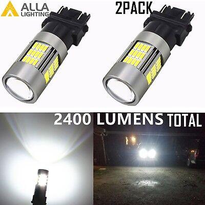 Alla Lighting 3157 54-LED Turn Signal Light Brake Tail Marker Backup Bulbs,White (Neon Run Orlando)