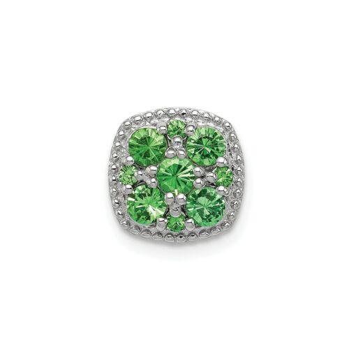 Grenat /& Diamant Rond Bague Argent Sterling .925