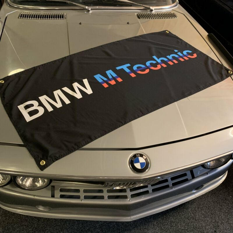 BMW M Technic Banner - Black 850 CSI E62 3.5l Motorsport V8 M2 f06 Mtek M535i M3