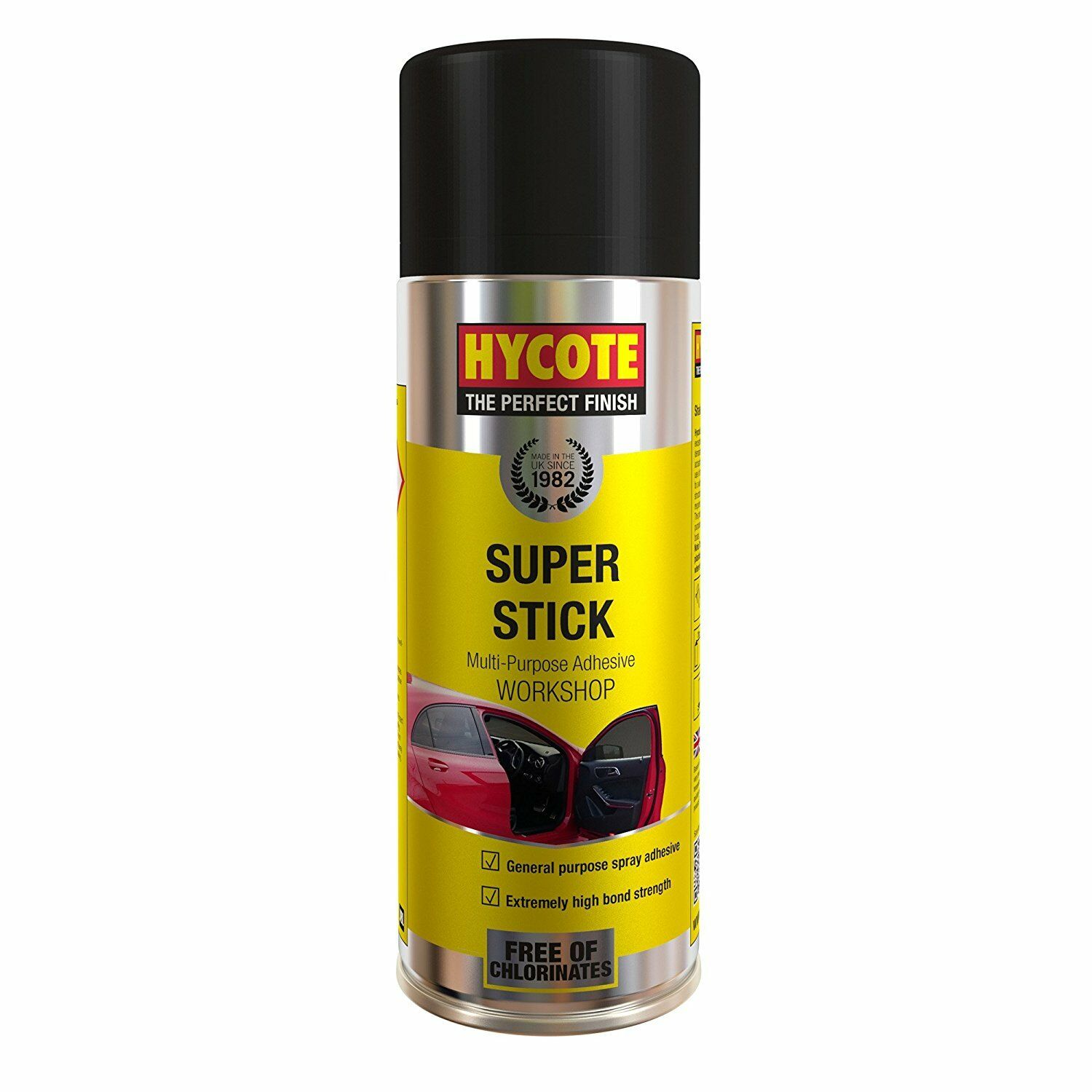 HYCOTE SUPER STICK ADHESIVE SPRAY UNDERLAY CARPET TILE GLUE FLOORING 400ml