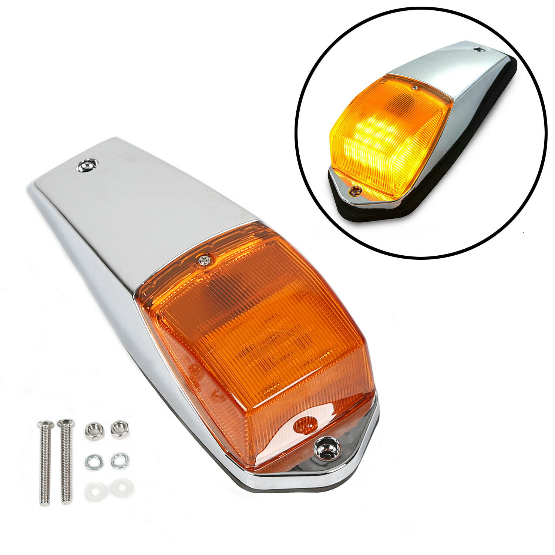 WFLNHB 5 pcs Amber Chrome 31 LED Cab Marker Lights Replacement for Peterbilt Kenworth Freightliner