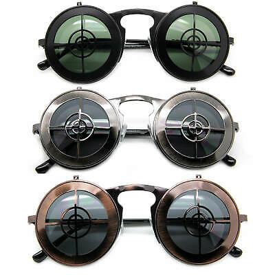 Burning Man Steampunk Goggles Flip Up Sunglasses Men Women Hipster Shades Punk