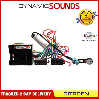 CT20CT04 Car Radio Headunit ISO Wiring Harness Adaptor Lead for Citroen