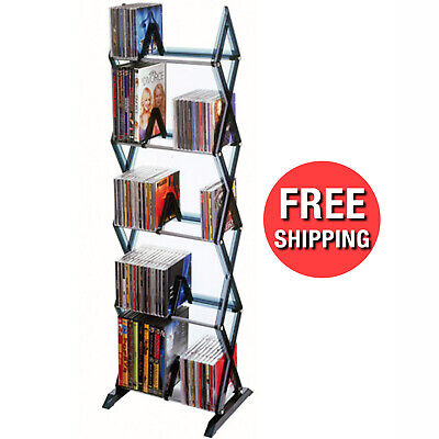 Blu Ray DVDs Tower Storage Media CD Rack Shelf Stand Organizer Multimedia Holder Atlantic Plastic Media Storage