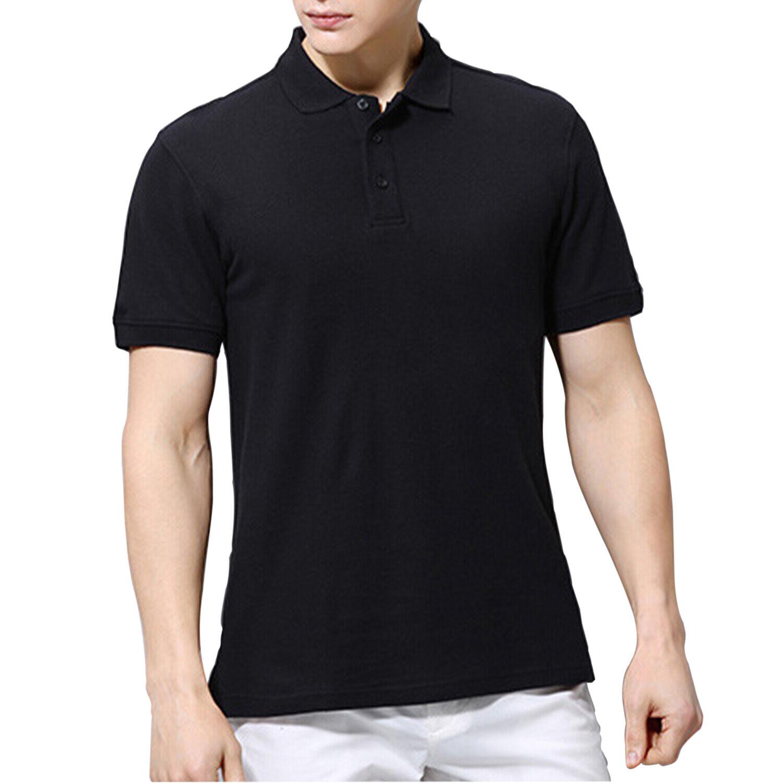 Men's Polo Shirt Golf Sports Cotton Short Sleeve Jersey Casual Plain T Shirt New 1